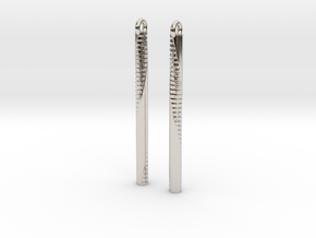 Andromeda Earrings in Rhodium Plated Brass