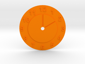 "Stand for a mug ""Time..."" in Orange Processed Versatile Plastic"
