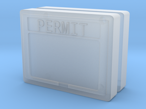 1:50 Permit box Diorama accessory set of two.  in Smooth Fine Detail Plastic