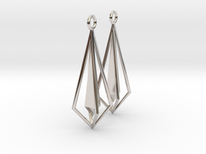 Geometric chic earrings in Platinum