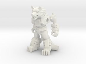 Jawsome Jackal (Plastic) in White Strong & Flexible