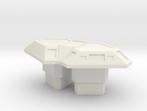 CIC Table (Battlestar Galactica) in White Natural Versatile Plastic: 1:30