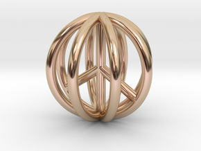 World Peace Pendant $15-$100 in 14k Rose Gold Plated Brass