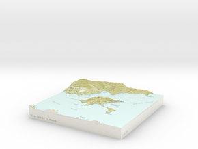 Maud Island / Te Hoiere - 15cm / 1:50k in Glossy Full Color Sandstone