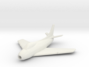 North American FJ-4 'Fury' in White Natural Versatile Plastic: 1:200