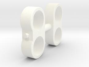 Wessex WX-62 Fuel Pipe Double Pair in White Processed Versatile Plastic