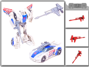 Legion TFP Smokescreen Blaster in White Natural Versatile Plastic