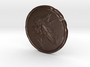 Dark Souls Rusted Coin in Matte Bronze Steel