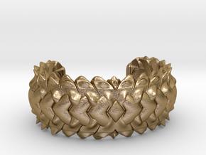 HYBRID CUFF  in Polished Gold Steel: Medium