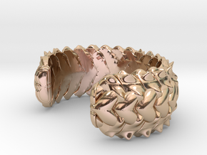 HYBRID CUFF  in 14k Rose Gold Plated Brass: Small