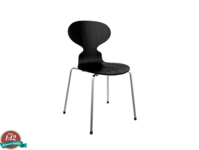 Miniature Ant Chair - Arne Jacobsen in White Strong & Flexible: 1:12
