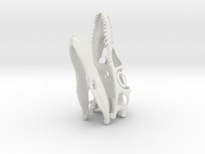 1:8 Utahraptor skull in White Natural Versatile Plastic