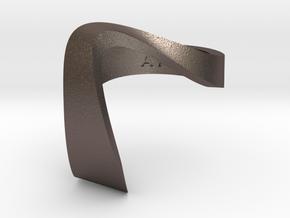 ZEPHYR METAL in Polished Bronzed Silver Steel: 4 / 46.5