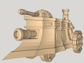 10mm Imperial Steam Tank in Smooth Fine Detail Plastic