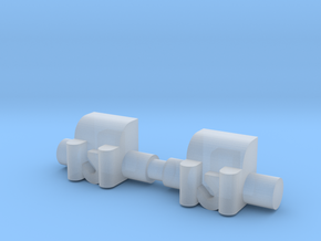 Winch 2 Pack 1-87 HO Scale in Smooth Fine Detail Plastic