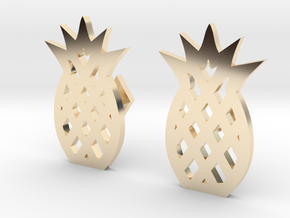 Pineapple Cufflinks in 14K Yellow Gold