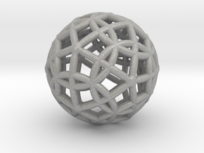 Spherical Icosahedron with Dodecasphere in Aluminum