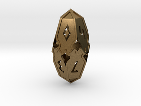 Amonkhet D10 gaming die - Large, hollow in Natural Bronze