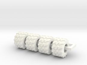 710/40-22.5 Tire in White Processed Versatile Plastic
