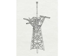 O.H. Perry Mast #3 in 1/200 scale in Smooth Fine Detail Plastic