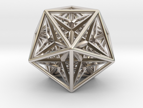 Super Icosahedron in Rhodium Plated Brass