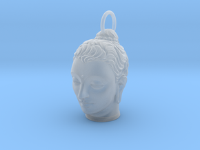 Gandhara Buddha Keychains 2 inches tall in Smooth Fine Detail Plastic