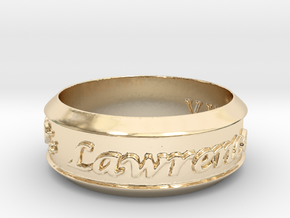 Anniversary Ring Rimmed - May 7, 1990 in 14K Yellow Gold: 12 / 66.5