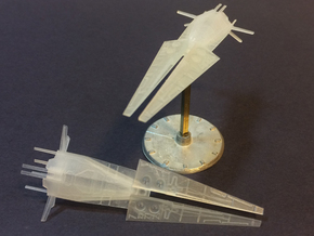 2x Galactic Scout Ships, New Albion in Smooth Fine Detail Plastic