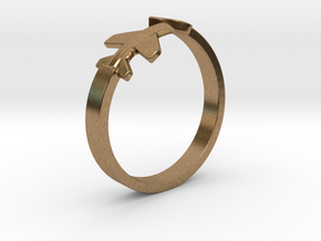 Aircraft Ring  in Natural Brass