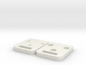 Porta Chiave Blindata in White Natural Versatile Plastic