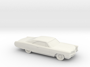 1/87 1966 Pontiac Bonneville Coupe in White Natural Versatile Plastic