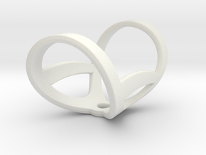 Infinity ring splint 6'' to 7'', length 32 mm in White Natural Versatile Plastic