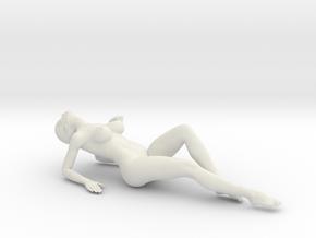 Long Ponytail Girl-040 in White Strong & Flexible