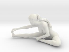 Long Ponytail Girl-049 in White Natural Versatile Plastic