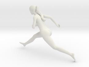 Long Ponytail Girl-075 in White Strong & Flexible