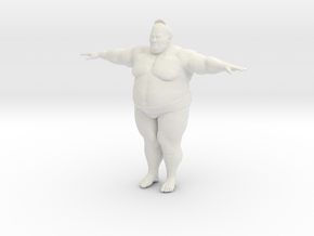 Japanese Sumo Tpose 15cm in White Natural Versatile Plastic