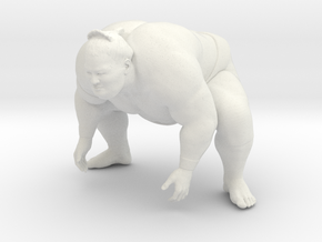 Japanese Sumo 006 in White Strong & Flexible: 1:10
