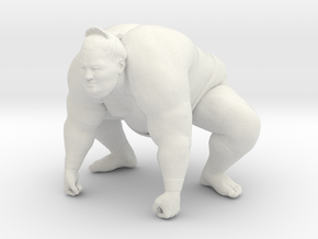 Japanese Sumo 010 in White Natural Versatile Plastic: 1:10