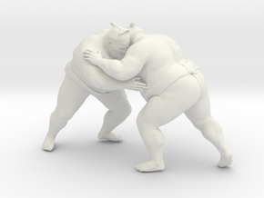 Japanese Sumo 016 in White Natural Versatile Plastic: 1:10