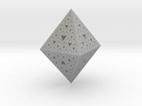 Sierpinski Octohedron 618 in Aluminum