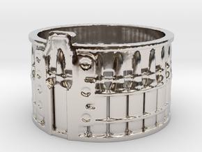 AK-47 75 rnd. Drum, Ring Size 10 in Platinum