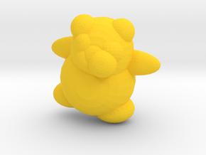 HoneyBerry Teddy Bear in Yellow Processed Versatile Plastic