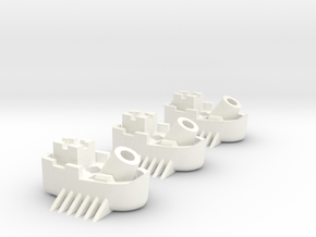 Fantasy Fleet Mortar Boats in White Strong & Flexible Polished