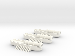 Fantasy Fleet Cannon Boats in White Processed Versatile Plastic