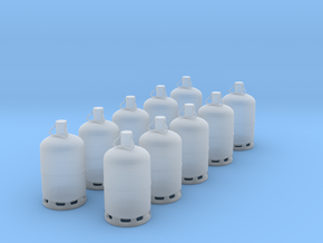 1/43 bouteille de gaz / gas bottle in Smooth Fine Detail Plastic