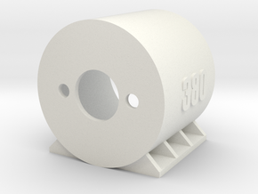 Motor Mount 380 - Version 1 in White Natural Versatile Plastic