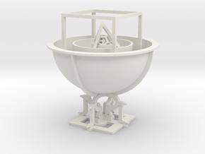 Mysterium Cosmographicum in White Natural Versatile Plastic: Medium