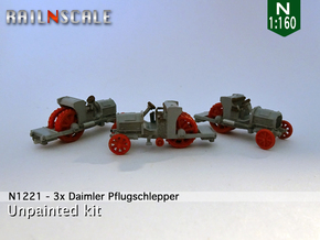 3x Daimler Pflugschlepper als Ladegut (N 1:160) in Smooth Fine Detail Plastic
