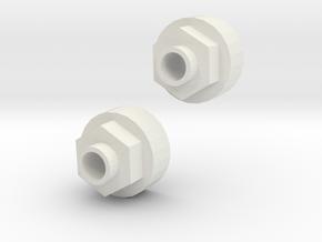 Tamiya ORV Rear Wheel hubs for HPI wheels  in White Natural Versatile Plastic
