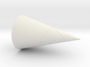 Geodesics Between Points on a 100 Degree Cone (4) in White Natural Versatile Plastic